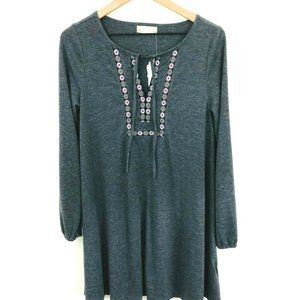 NWT! Altar'd State Embroidered Long Sleeve Dress